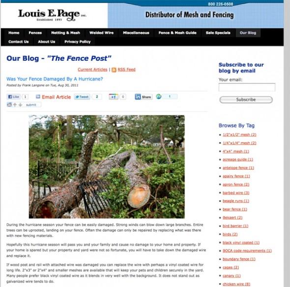 Louis E. Pageのブログマーケティング事例