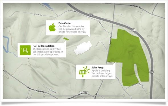 Apple再生可能エネルギーデータセンター