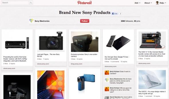 それぞれのボードでユーザーの興味を引きつけ、その上で新製品についての情報もきっちり伝えている。