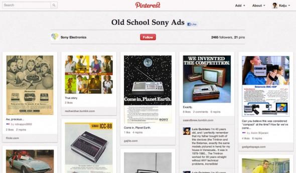 ソニーの広告・クリエイティブ。ブランドがどういう製品をリリースし、何を伝えてきたかがわかる。
