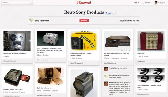 Retro Sony Productsは、ソニーと技術の進歩を感じさせ、ブランドイメージに貢献している。