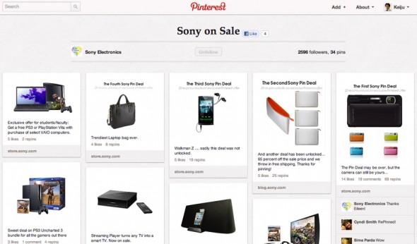 Sony on Sale も Brand New Sony Products と同様に、ソニーストアーの各製品ページヘランディングさせ、直接購買に繋がる導線になっている。